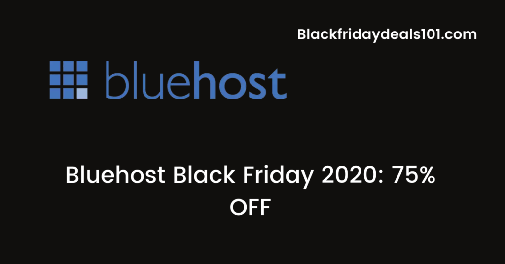 Bluehost Black Friday 2020
