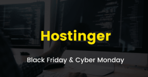 Hostinger Black Friday sale 2020