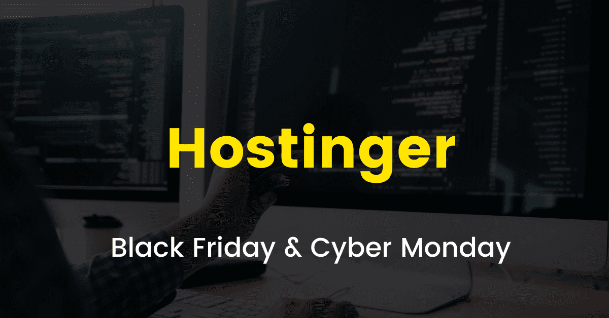 Hostinger Black Friday sale 2020