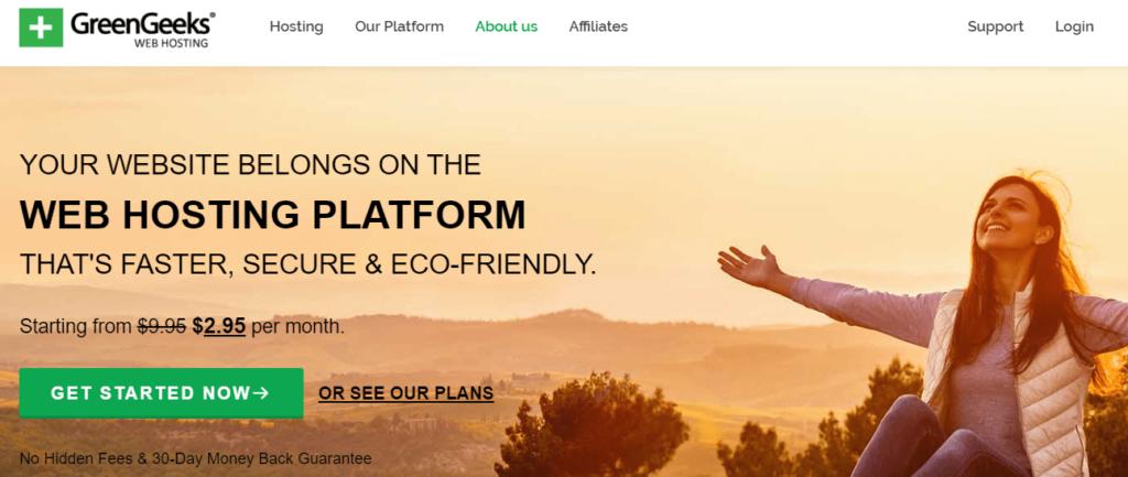 greengeeks home page