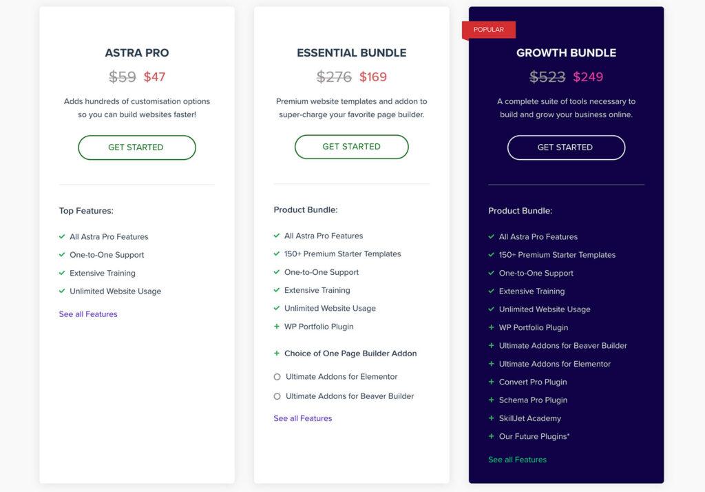 wpastra pricing plans