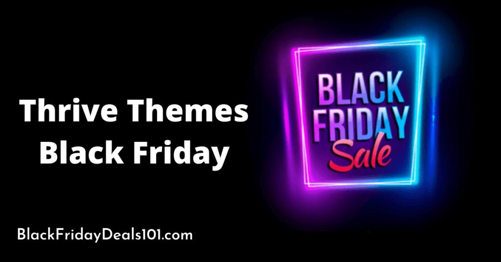 Thrive Themes Black Friday